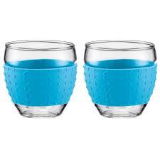 Pavina Glas m Silicon 35 cl, Blå