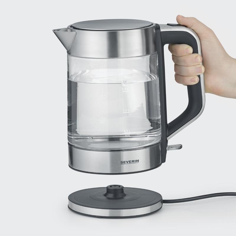 Vattenkokare i glas (S) 1,7 l