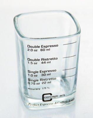 Joe Frex Shotglas med 4 markeringar
