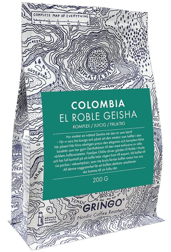 gringo geisha colombia kaffe