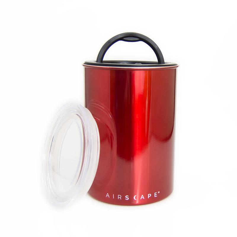 Airscape röd förvaringsburk vakuumburk