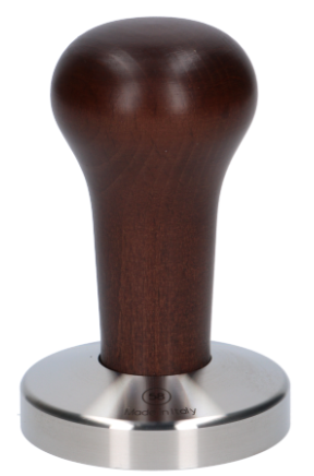 tamper dark wood rostfri 58 mm