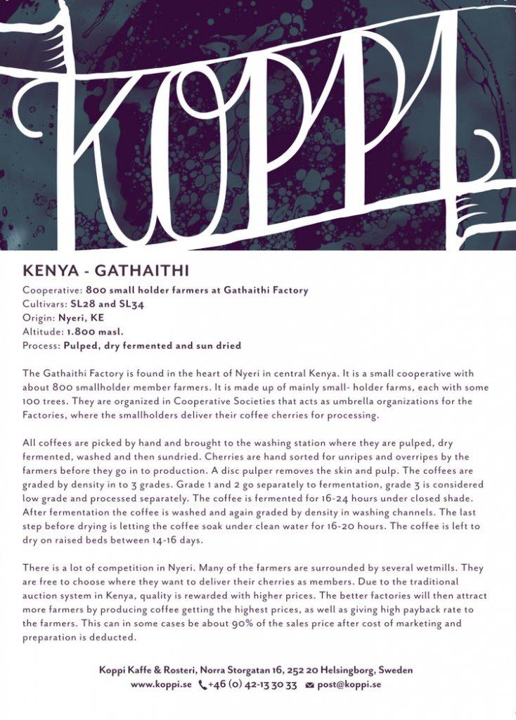 Koppi - Kenya Gathaitha AB, 250 gr