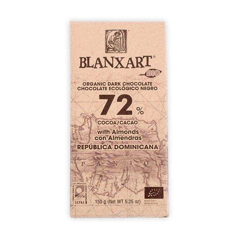 Chokladkaka Eko 72% med Mandel, 150 gr