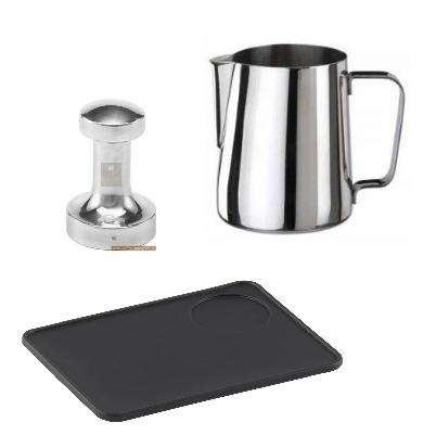 Baristapaket, mjölkkanna, tamper, kaffecompagniet, kaffetillbehör, barista,