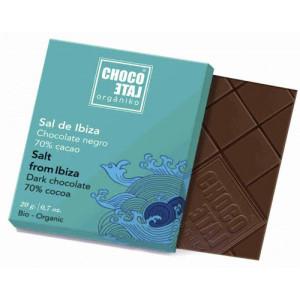 Choklad 70% m havssalt Ibiza, 20 gr